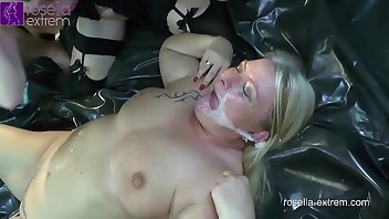 Creampie Eating MILF Gagging Pissing