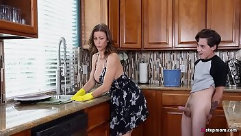 Kitchen MILF Blowjob Cowgirl