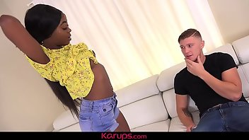 Spanking Interracial Blowjob
