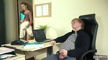 Grandpa Hardcore Boobs Handjob