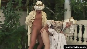 Ball Licking Pussy Blonde Outdoor