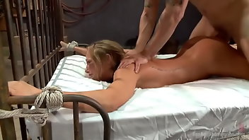 Bound Blonde Creampie Rough